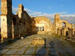 Old Church Basilica (Athanasia_Houvarda) Tags: church ruins prespes sky clouds basilica basilicachurch agiosachilios island history greece greekislands greekhistory greekruins abandoned