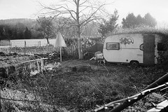 Mobile home (25/8) Tags: minolta himatic 7sii adox himatic7sii silvermax agfakipp
