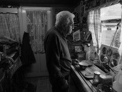 Only The Lonely (josephburden58) Tags: portrait kitchen mono elderly oldage windowlight lonley fujifilmx10