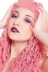 Arianna pink 2 (ross-makeup) Tags: beauty face hair model eyes lashes longhair makeup lips occhi wig shooting approved arianna viso reynolds fakeeyelashes capelli trucco pinkwig labbra modella parrucca longcurlyhair ciglia capellilunghi darklipstick cigliafinte parruccarosa rossettoscuro