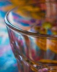 29/366 Through a Glass - (dorsetpeach) Tags: england abstract colour glass table cafe dorset softfocus 365 dorchester finca 2016 366 aphotoadayforayear 366project second365project