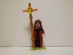 Cleric (Nilbog Bricks) Tags: light lego good wizard magic monk spell christian fantasy enchanter priest minifig custom mage warlock healer sorcerer cleric minifigures conjuror wizardess brickarms brickforge
