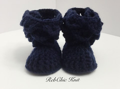 Bottillons pour bébé (RebChic) Tags: baby fashion shoes boots handmade crochet knitted hook slippers booties rebchicknit