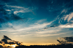 DSC06932 (reivaxnc) Tags: blue sunset sun moon clouds lune sony ciel hour nuage a7ii 35mmart