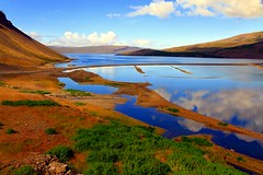On the way to the westernmost point of Europe (mark.paradox) Tags: trip travel cliff reflection nature water colors clouds landscape iceland europe view hill adventure mount fjord westfjords       latrabjarg  patreksfjordur
