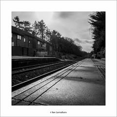 empty railway track.... (bevscwelsh) Tags: railwaytrack northwales hawarden panasonic14mm olympusem5