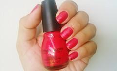 Ruby Mine - Sinful Colors (Desafio das Sries) (Raabh Aquino) Tags: red vermelho nails unhas esmalte texturizado texurizado
