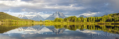 Oxbow Bend Reflection (glennlewisphotography) Tags: travel trees summer panorama usa cloud mountain mountains reflection tree nature water clouds america forest river landscape nationalpark wyoming wilderness grandteton grandtetonnationalpark glennlewis glennlewisphotography