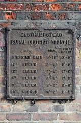 Sewage chart (stavioni) Tags: chart metal rural district pipe sewage council berkshire sandhurst easthampstead