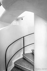 Barcelona : Escalier dans la Casa Batllo (Gaudi)