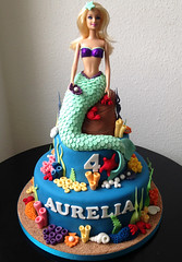 Aurelia's Mermaid (adrianarosati) Tags: sea shells cake sand underwater starfish barbie crab pearls icing mermaid cakedecoration cakedesign adrianarosati