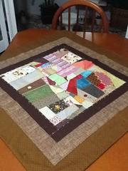 Trilho (ceciliamezzomo) Tags: kitchen table crazy handmade embroidery fabric stitches scraps patchwork runner cozinha bordados trilho retalhos