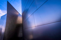 Steel Waves (mikalo79) Tags: city blue sky abstract metal architecture losangeles waltdisneyconcerthall