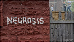 Neurosis (Mark Turnauckas) Tags: urban wall writing graffiti funny text digitalart humor ironic