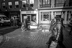 York (wayman2011) Tags: york uk people urban bw cityscape yorkshire bikes shops canon5d lightroom townscapes wayman2011
