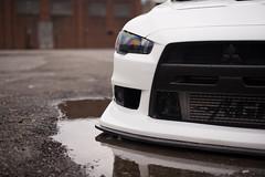 Wet X. (Reid Elattrache) Tags: white cars car wheel work pittsburgh wheels evil fast pa modified evox cr evo brembo stance pghcnc