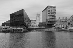 Canning Dock - Liverpool (Chris Dimond) Tags: bw liverpool reflections 2015 portofliverpool canningdock