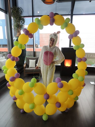 Paasmand Fotolijst van Ballonnen Pasen Restaurant Watertuin Spijkenisse
