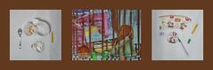 """Tapestry Diary 1. March Spring Begin 1: As it was snowing in the morning """"Yes Naturally Winter Magic Chestnut yoghurt"""" Tagebuch Teppich Tapisserie Tagebuch 1. Mrz Frhlingsbeginn 1: Da es schneite am Morgen Ja natrlich Winterzauber Schoko Maroni Joghurt (hedbavny) Tags: vienna wien schnee light food orange brown white snow colour rot gold austria licht sterreich spring essen assemblage diary band wrap eat letter chestnut grn braun weaver blau recycling schrift farbe verpackung tagebuch begin weber loom tapestry esoterik teppich frhling joghurt anfang fasten lichterkette winterzauber schale auspacken webstuhl nahrung maroni tapisserie lebensmittel graphology handschrift weis zahl beginn frhlingsbeginn werksttte upcycling maigrn weavingloom parawissenschaft parapsychologie numerologie webatelier teppichweber hedbavny breatharians lichtnahrung ingridhedbavny goldenerfaden grafologie"""