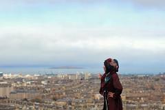 Fly high! (|| Rehnumah Insan ||) Tags: houses sea summer sky mountains me water beautiful clouds season landscape 50mm seaside edinburgh cityscape view land birdseyeview caltonhill 50mm18 canon600d