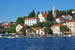 Rogoznica from the sea :) (green_lover) Tags: houses sea vacation water town croatia shore wharf rogoznica