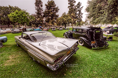 1959 chevy impala and a packard (pixel fixel) Tags: chevrolet impala 1959 southgate azealiafestival tweedymilegolfcourse