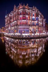 It's a kind of magic (karinavera) Tags: street city longexposure travel windows urban reflection building castle water netherlands amsterdam architecture night hotel canal europe exploration nikond5300