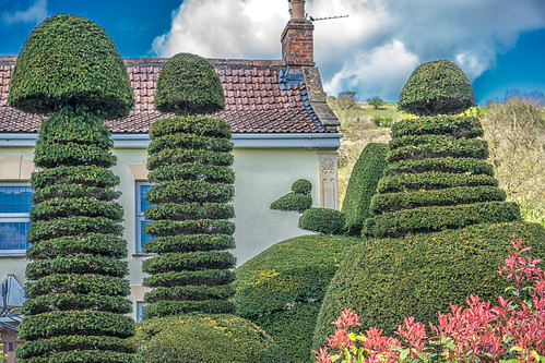 Topiary in Cross village.