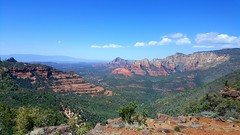 Beautiful Sedona, Arizona (Spork Outdoors) Tags: trip travel blue trees red vacation arizona sky usa mountains southwest green nature beautiful clouds outside outdoors spring scenery colorful vibrant sedona explore valley wilderness lush redrock vast
