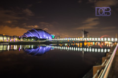 The Clyde Auditorium, Glasgow's Armadillo (@CubePhotos) Tags: city uk urban night canon river landscape scotland clyde long exposure cityscape nightscape britain glasgow scottish shift scene 5d british nightscene 24mm tilt lightroom nightshooting mkiii tiltshift mk3 nightshooter