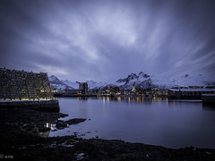svolvr by night (eriknst) Tags: sea sky seascape church water norway skyline night clouds landscape evening coast waterfront outdoor norwegen olympus cod lofoten stockfish svolvr hurtigruta svinya vgan