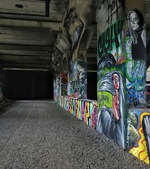 Abandoned Subway (chriscampomizzi) Tags: new york pink blue girls red black green bird abandoned colors girl yellow subway graffiti toucan save rochester birrd