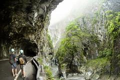 Taroko Gorge (sama093) Tags: mist river rocks taiwan fisheye falling gorge tunnels taroko