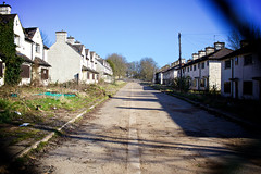 Derelict (cchana) Tags: road old houses white fence demolition derelict boarded abandond terraced
