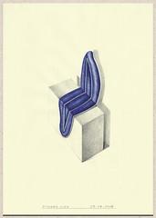Seated woman (Richard Alen) Tags: collage pen texturas bolgrafo lpiz richardalen