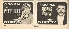 Patty Duke and John Astin, WTCN-TV 1966 (STUDIOZ7) Tags: television minnesota tv 60s comedy telephone stpaul minneapolis teen teenager abc 1960s twincities mn gomez sixties addamsfamily tvguide sitcom pattyduke kare11 channel11 johnastin wtcn