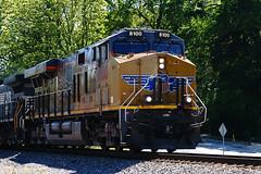 Union Pacific 8100 (redhorse5.0) Tags: railroad train traintracks unionpacific locomotive freighttrain dieselengine mainline diesellocomotive norcrossgeorgia sonya850 redhorse50
