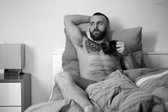 Febbraio 2016 (Kumo Moku) Tags: bear hairy selfportrait man guy self beard cub autoritratto scruff selfie canoneos650d