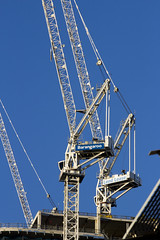 Construction Cranes, Darling Harbour, Sydney, NSW (Jim 03) Tags: city construction harbour district centre sydney pedestrian jim cranes business nsw darling recreational jimhoffman jhoffman jim03 wwwflickrcomphotosjhoffman2013 wwwjimahoffmancom