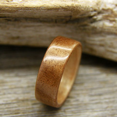 Beeswing Walnut and Maple (stoutwoodworks) Tags: wood wedding water one wooden engagement maple natural bend handmade grain walnut band craft jewelry steam ring kind rings strong handcrafted steamed bent alternative lining stout ecofriendly lined durable 7mm woodworks bentwood beeswing