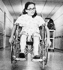 well braced polio wheeler (jackcast2015) Tags: braces handicapped polio calipers braced infantileparalysis disabledwoman crippledwoman poliomylitis