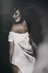 Kristel (Hans van Eijsden) Tags: portrait woman netherlands girl beauty lady female studio model glamour longhair makeup posing headshot personality sensual simplicity nl studiolight headshots youngadult oneperson zwolle overijssel darkhair individuality individuals elinchrom greybackground