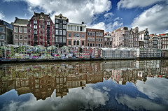 Flowers Market (Claudio Cantonetti) Tags: world city travel flowers light sky urban holland reflection art water colors amsterdam architecture clouds buildings landscape spring nikon europe cityscape place market places netherland channel 2015 d7000 claudiocantonetti