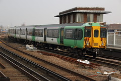 455841 (Rob390029) Tags: travel travelling green london public station electric train track transport tracks rail railway junction class southern transportation transit rails multiple emu clapham unit 455 clj 455841