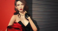 Red Lips ( Baronne ) Tags: red portrait black mannequin face look fashion tattoo lady bag french rouge photo necklace 3d model pretty girly picture style pic minimal sl photograph secondlife redlips accessories re brunette piece mode fr brune accessoires rama visage mademoiselle selfie accessory tatouage ison metaverse whitewidow cluth lelutka titzuki theseasonstory genesislab