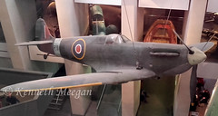 R6915 (Ken Meegan) Tags: england london museum spitfire preserved lambeth raf imperialwarmuseum iwm royalairforce r6915 2242016 supermarinespitfirefmkia 6s80914