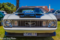 Stang 8 (Malcom Lang) Tags: auto old trees windows horse house classic cars ford grass car canon vintage lights automobile headlights grill mustang bonnet 1973 v8 numberplate canonef canon2470mm canon6d malcomlangphotos stang8