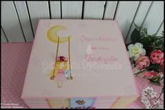 """Caixa grande de batizado, de recordações e livro de honra """"Fairy Dream"""" (GataPreta Artesanato) Tags: batizado batismo recordações livrodehonra lembrançasbatizado conjuntobatizado caixadebatizado caixaparabatizado"""
