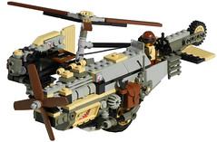 Towhee Light Diesel Gyrocopter Mk. XXVI (front) (aillery) Tags: camera light pull design back desert lego diesel aircraft military engine scout helicopter motor concept effect torque copter motorized rotor towhee asymmetric adventurers recon reconnaissance nonelectric dieselpunk gryocopter