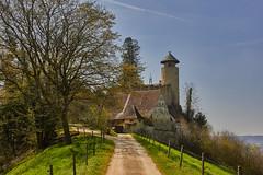 Die Burg Birseck in Arlesheim, Schweiz (damianschaerer) Tags: panorama castle schweiz outdoor wiesen basel aussicht bltter solothurn ermitage frhling wellness arlesheim frisch festung erholung baselland dornach dreamstime fotolia nordwestschweiz